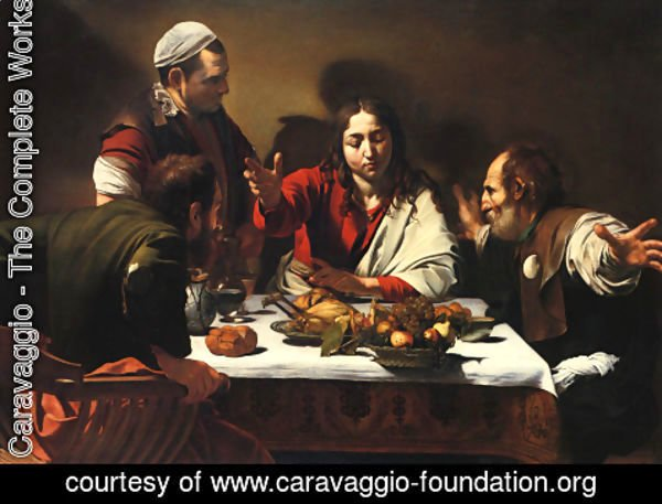 Caravaggio - The Supper at Emmaus, 1601