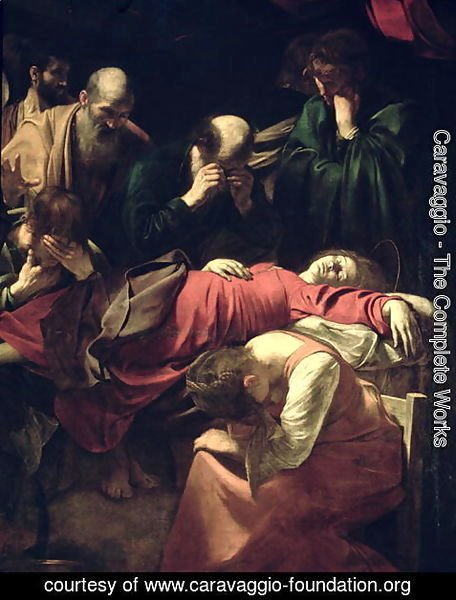 Caravaggio - The Death of the Virgin, 1605-06 (detail)