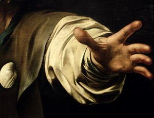 Caravaggio - The Supper at Emmaus, 1601 (detail)