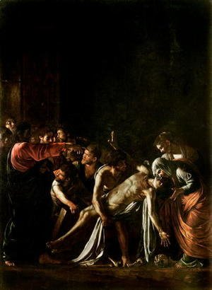 Caravaggio - Resurrection of Lazarus (detail-1)