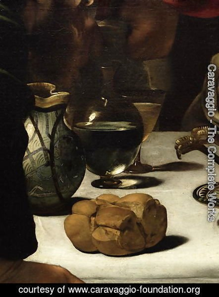 The Supper at Emmaus, 1601 (detail-3)