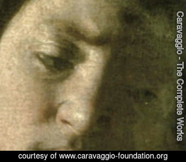 Caravaggio - David with the Head of Goliath, 1606 (detail)