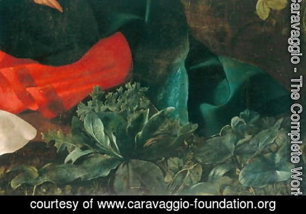 Caravaggio - Rest during the flight into Egypt (detail-4)