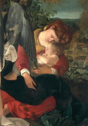 Caravaggio - Rest during the flight into Egypt (detail-5)