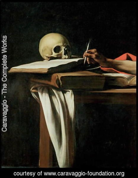 Caravaggio - St. Jerome Writing, c.1604 (detail)