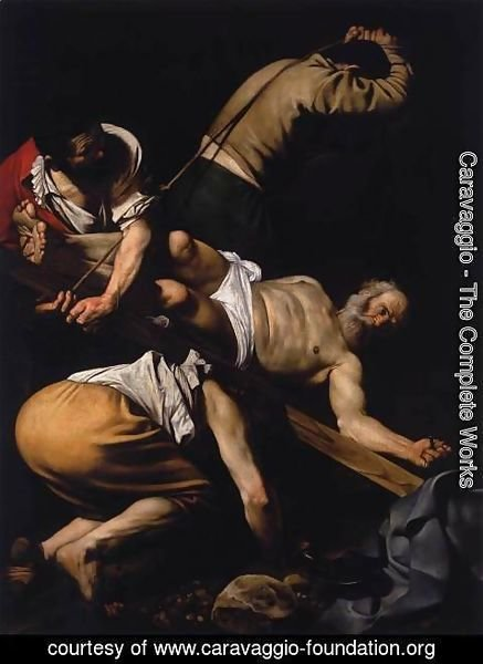 Caravaggio - The Crucifixion of St. Peter, 1600-01