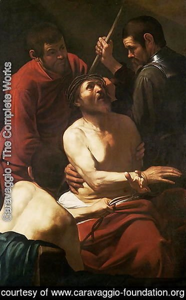 Caravaggio - Christ Crowned by Thorns, c.1602