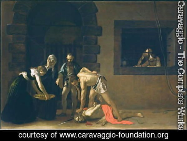 Caravaggio - The Decapitation of St. John the Baptist, 1608