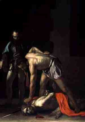 Caravaggio - The Decapitation of St. John the Baptist, 1608 (detail-2)