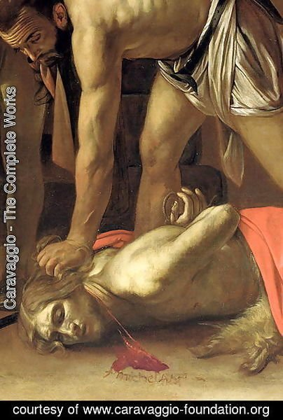 The Decapitation of St. John the Baptist, 1608 (detail-3)