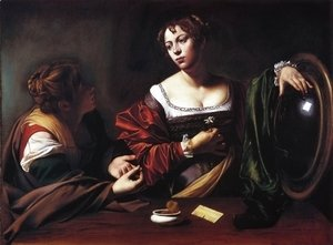 Caravaggio - The Conversion of the Magdalen, 1597-98