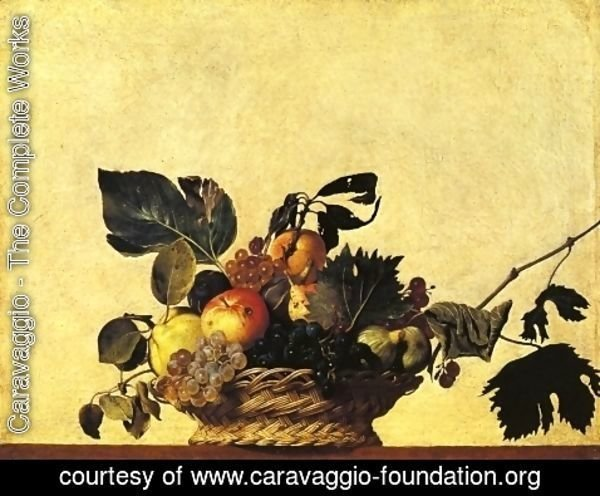 Caravaggio - Still Life with a Basket of Fruit