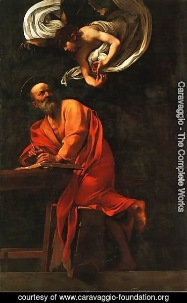 Caravaggio - St. Matthew and the Angel