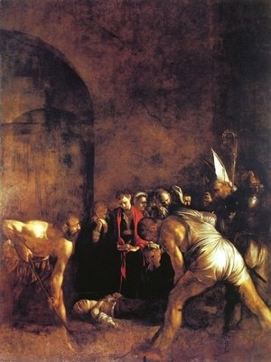 Caravaggio - The Burial of St. Lucy