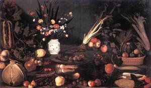 Caravaggio - Still Life with Flowers and Fruit