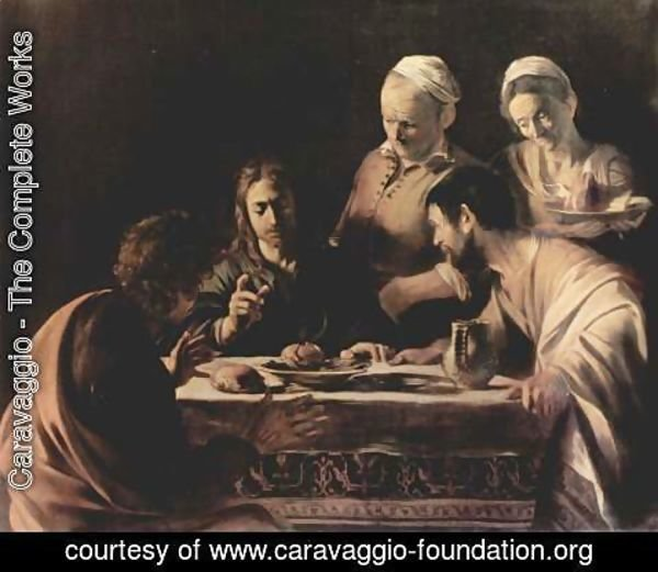 Caravaggio - Supper at Emmaus 2