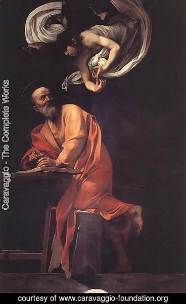 Caravaggio - The Inspiration of Saint Matthew
