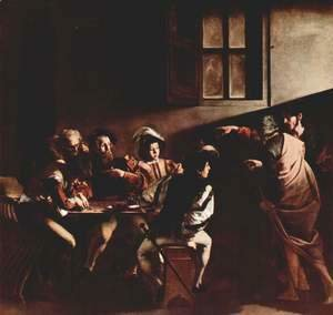 Caravaggio - The Calling of Saint Matthew 2