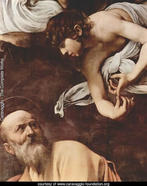 The Inspiration Of Saint Matthew (detail)