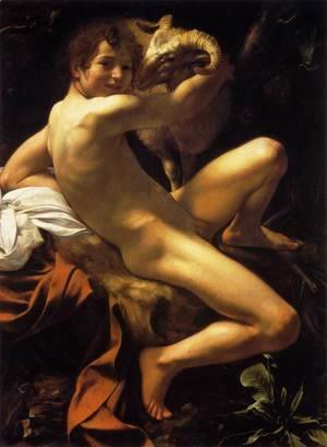 Caravaggio - St. John the Baptist (Youth with Ram)