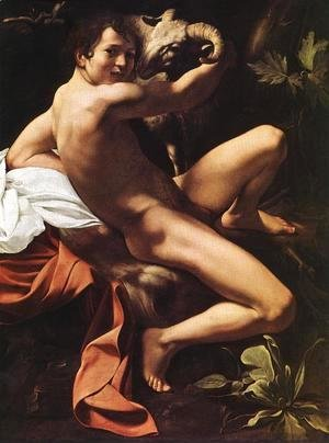 Caravaggio - St. John the Baptist (Youth with Ram) 2