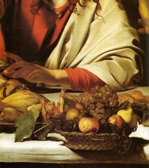 Caravaggio - Supper at Emmaus (detail)