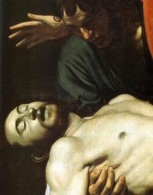 Caravaggio - The Entombment (detail)