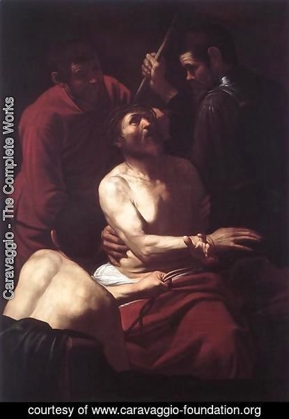 Caravaggio - The Crowning with Thorns 2