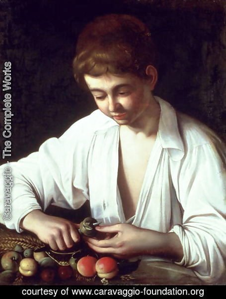 A Young Boy Peeling an Apple
