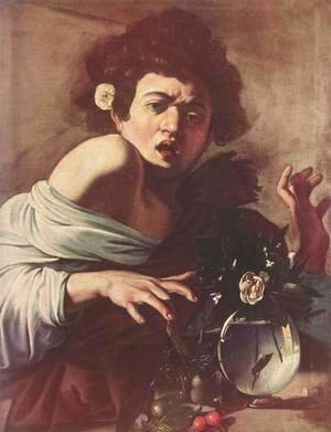 Caravaggio - Boy Bitten by a Lizard