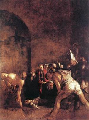 Caravaggio - Burial of St Lucy