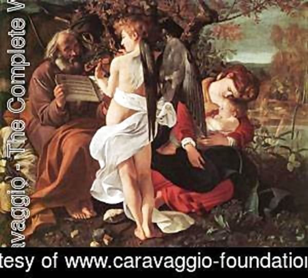 Caravaggio - Rest on Flight to Egypt