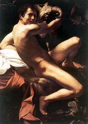 Caravaggio - St John the Baptist Youth with Ram