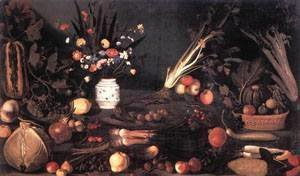 Caravaggio - Still Life with Flowers and Fruit 2