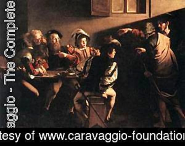 Caravaggio - The Calling of Saint Matthew 3