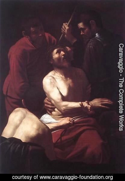 Caravaggio - The Crowning with Thorns2