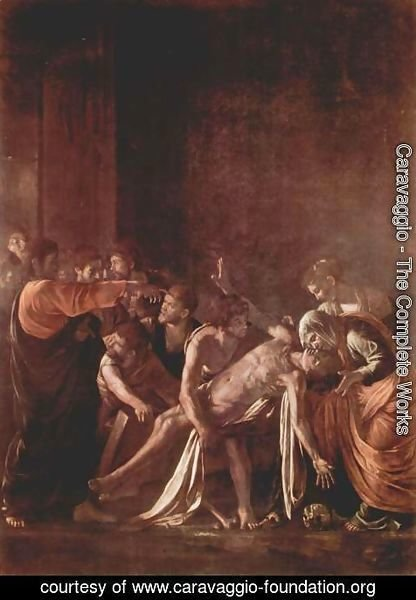 Caravaggio - The Raising of Lazarus 2
