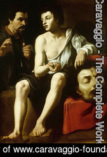 Caravaggio - David and Goliath with a double-portrait of Caravaggio