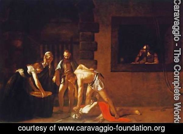 Caravaggio - The Beheading of John the Baptist, for the oratory of the Cathedral of San Giovanni dei Cavalieri in Valletta