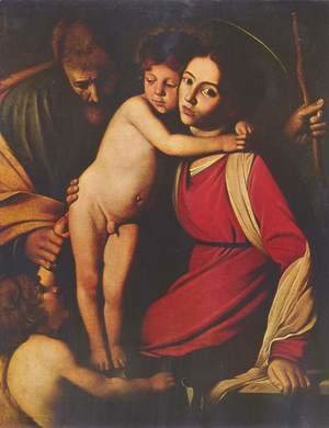 Caravaggio - Holy Family with John the Baptist