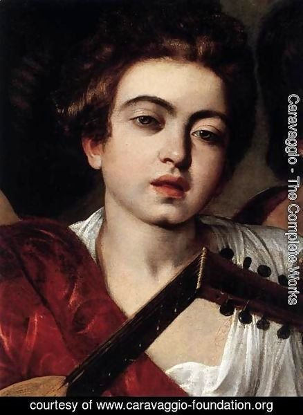 Caravaggio - The Musicians (detail)