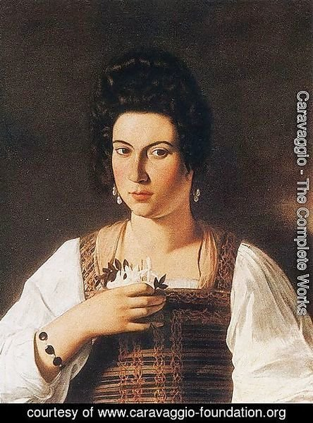 Caravaggio - Portrait of a Courtesan