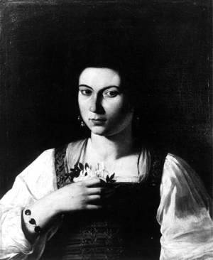 Caravaggio - Portrait of a Courtesan c. 1598
