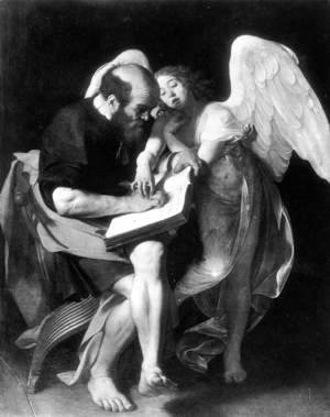 Caravaggio - St. Matthew and the Angel 1602