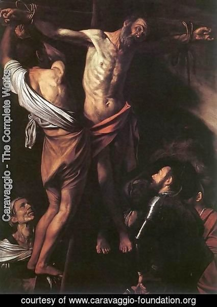 Caravaggio - The Crucifixion of St Andrew c. 1607