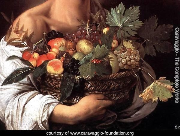 Boy with a Basket of Fruit (detail) c. 1593