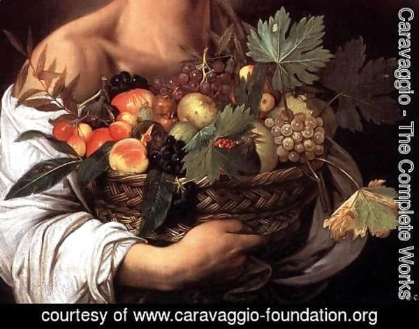 Caravaggio - Boy with a Basket of Fruit (detail) c. 1593
