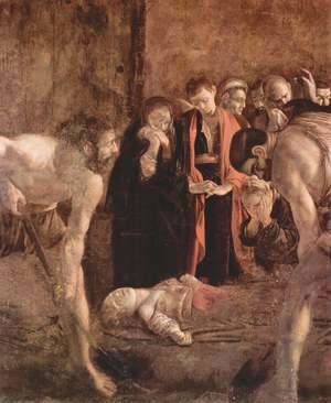 Burial of St Lucy (detail) 1608