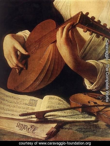 Lute Player (detail) c. 1596