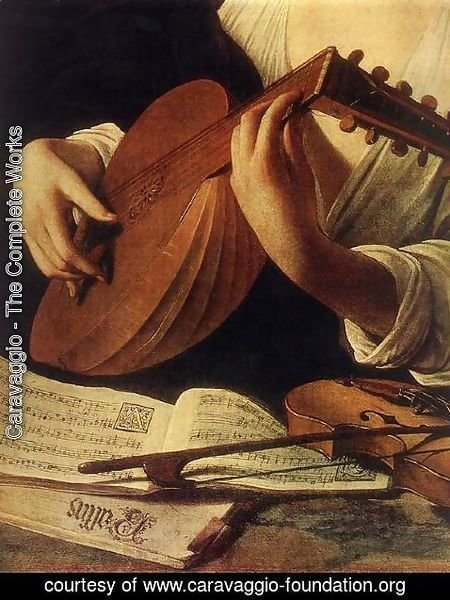 Caravaggio - Lute Player (detail) c. 1596